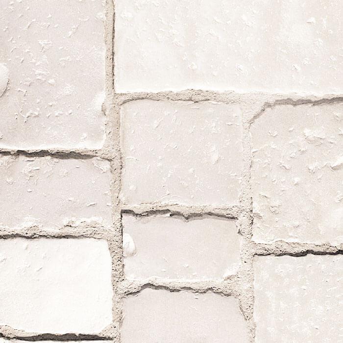 vecchio basolato pavimento pietra bianca effetto pietra antica