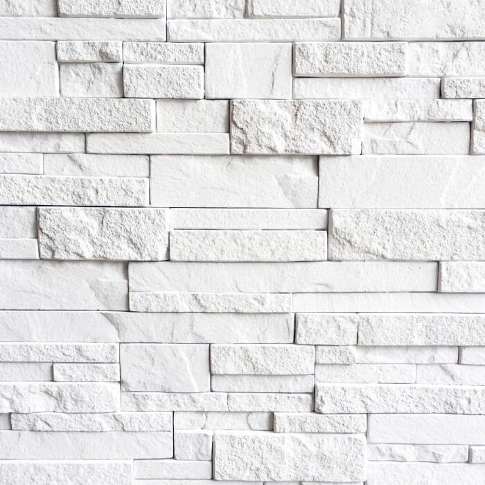 quarzite rivestimento in pietra ricostruita bianca