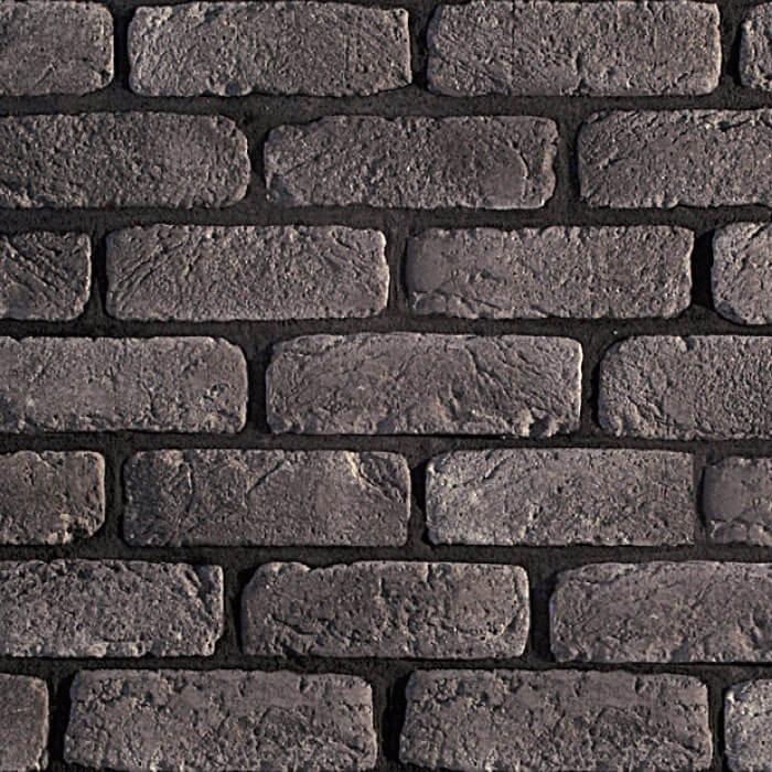 parete con mattoncini grigio fumo
