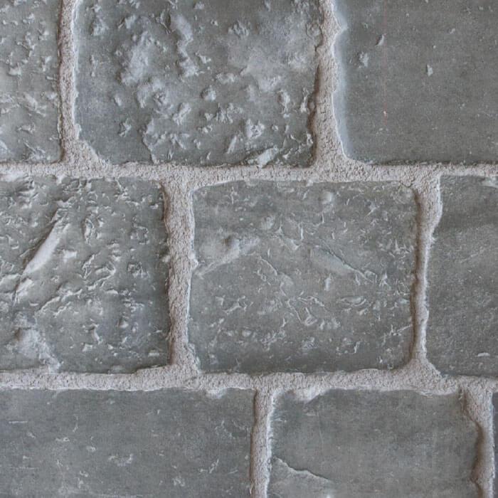 vecchio basolato pavimento grigio effetto pietra