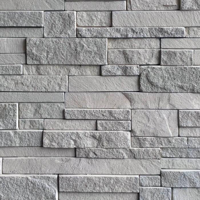 Quarzite rivestimento grigio in pietra ricostruita per interni