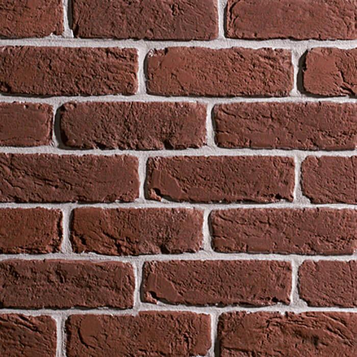 parete con mattoncini color terra