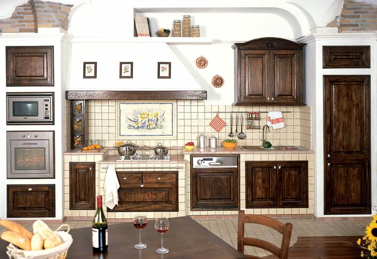 La vera cucina in muratura primiceri manufatti - Cucina in muratura ...
