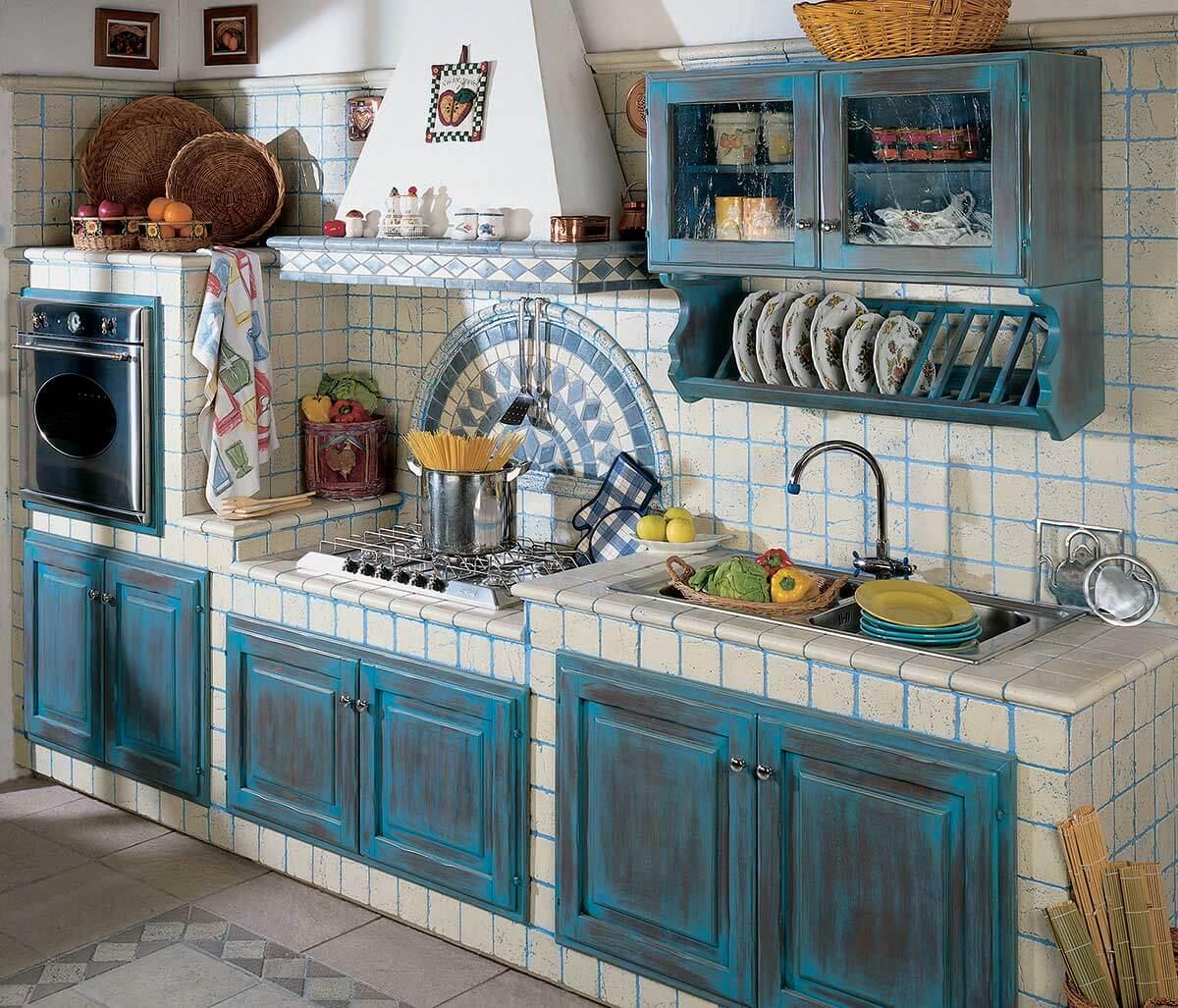 La vera cucina in muratura primiceri manufatti - Cucinini in muratura ...