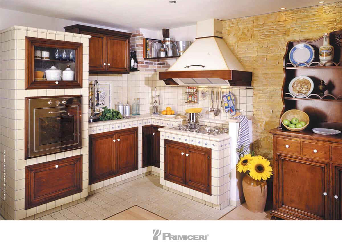 La cucina in muratura made in Primiceri Manufatti