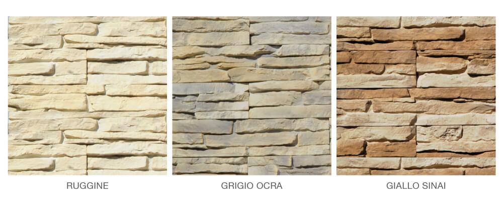 colori rivestimento pietra ricostruita primiceri